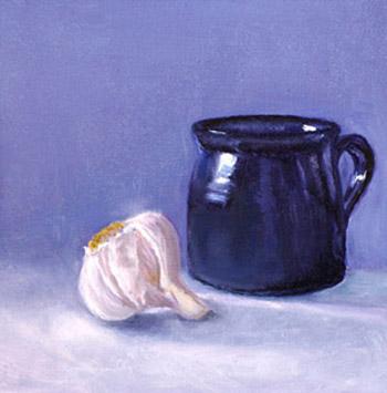 Blue Ceramic and Garlic #2