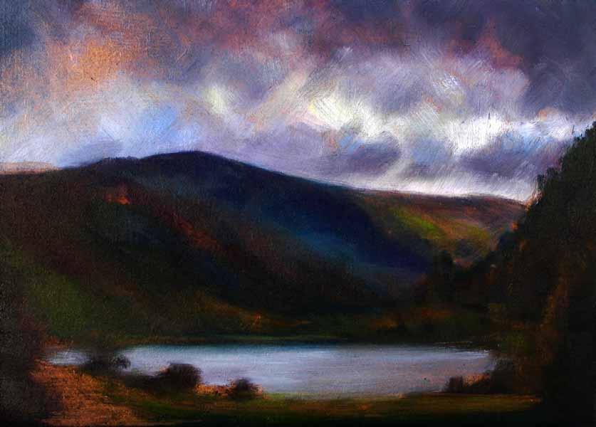 Landscape,lake and mountains Ireland
