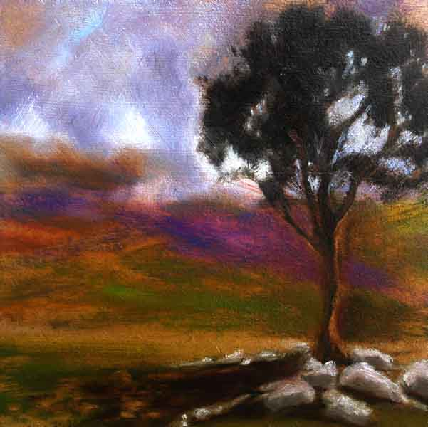 Wicklow landscape, Clouds on mountains