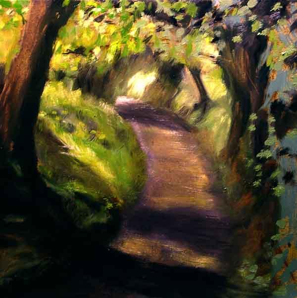Landscape Painting of Irish Country Lane