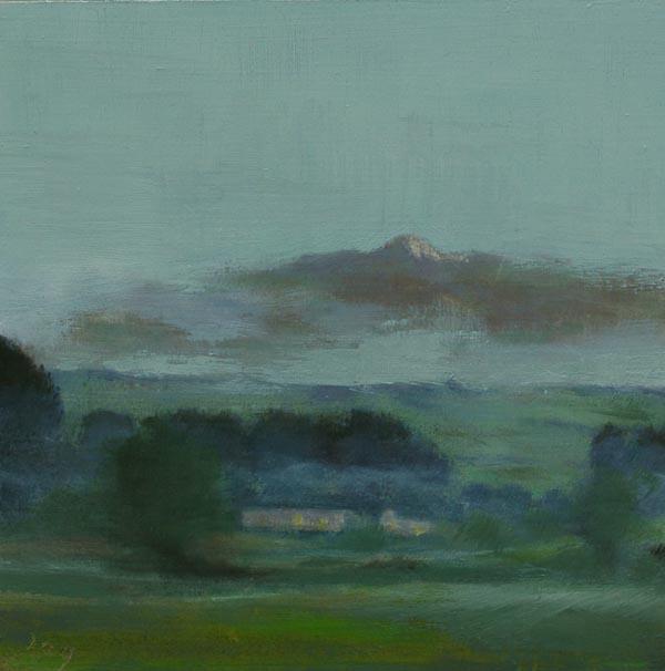 Ireland sunrise, neolithic cairn