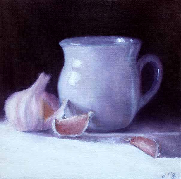 Ceramic with Garlic Bulb #4