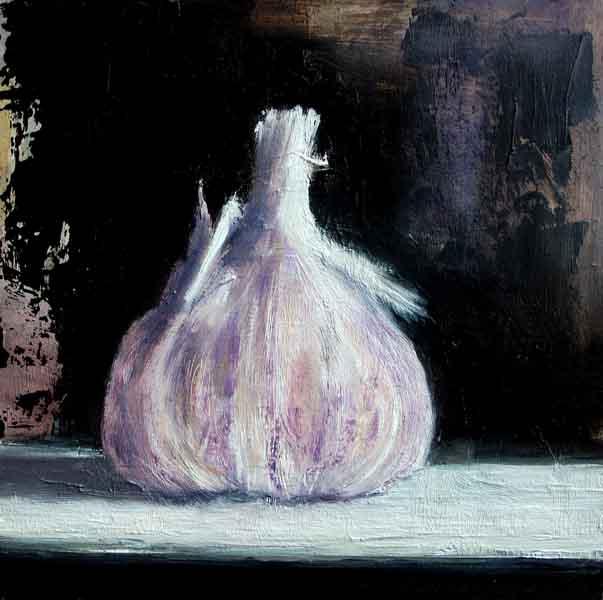 still life Garlic bulb