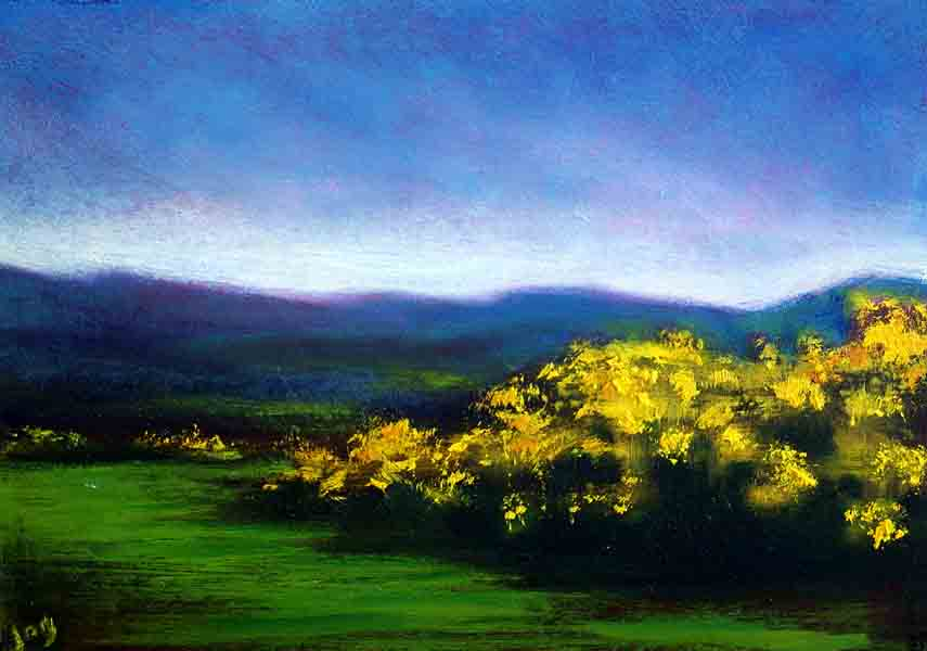 Gorse Bush, Painting of Ireland, Yellow and Green painting