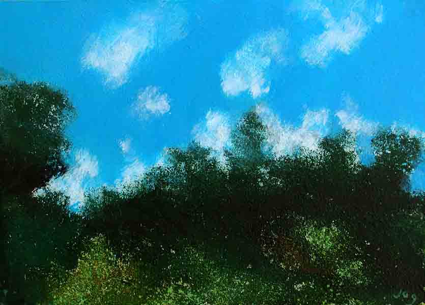Painting sky Provence
