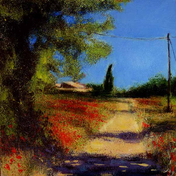 Painting, Provence, Poppyfield