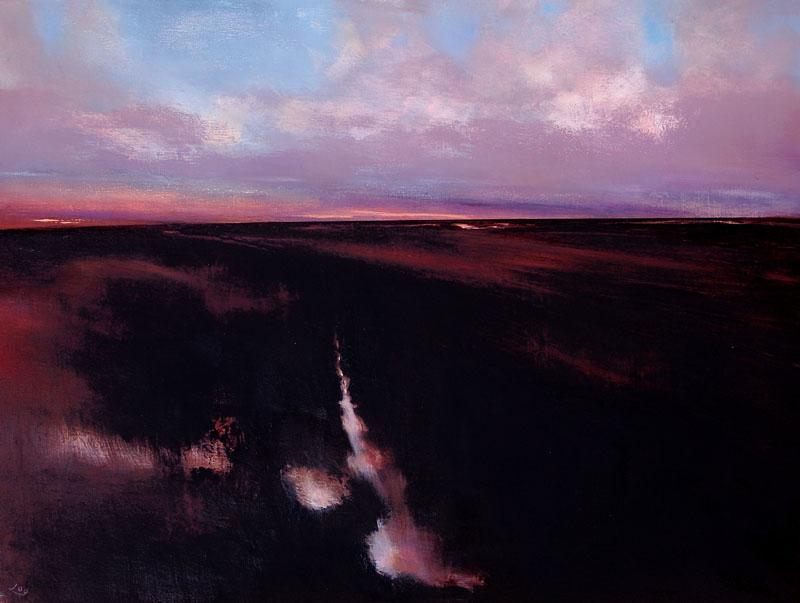 JohnOGrady-Art, Ireland, Irish-Landscape, Bog, Sunset
