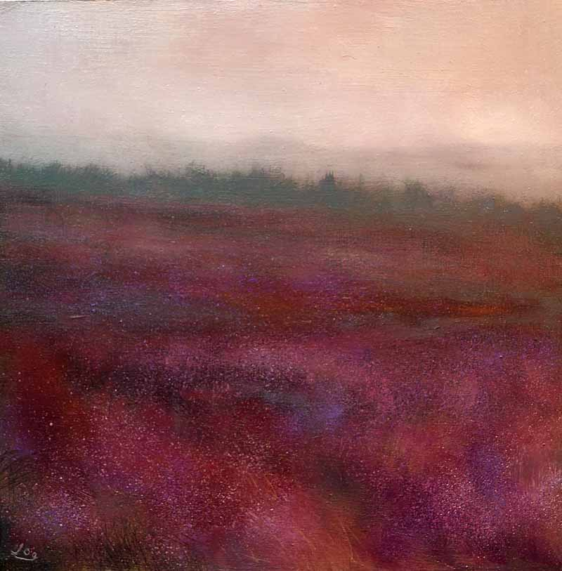 JohnOGradypaintings.com,Morning-mist-and-Bog-HeatherII