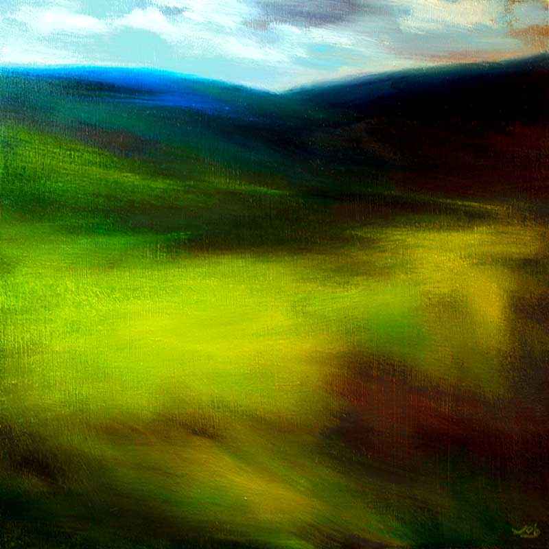 www.JohnOGradypaintings.com. Spring grass II