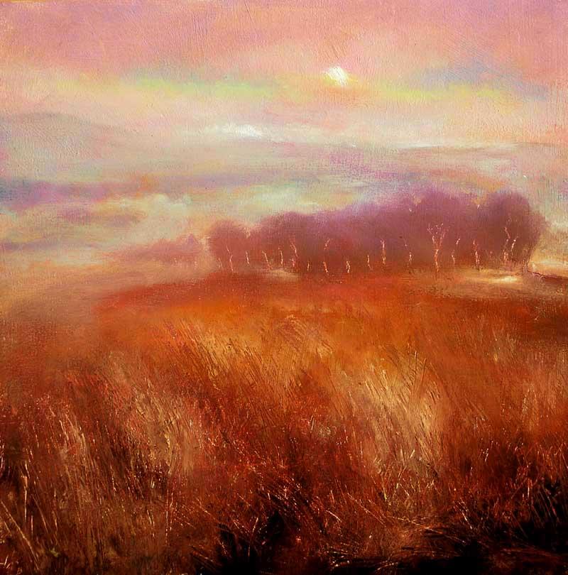 John O Grady Art - Dawn-over-the-Copse