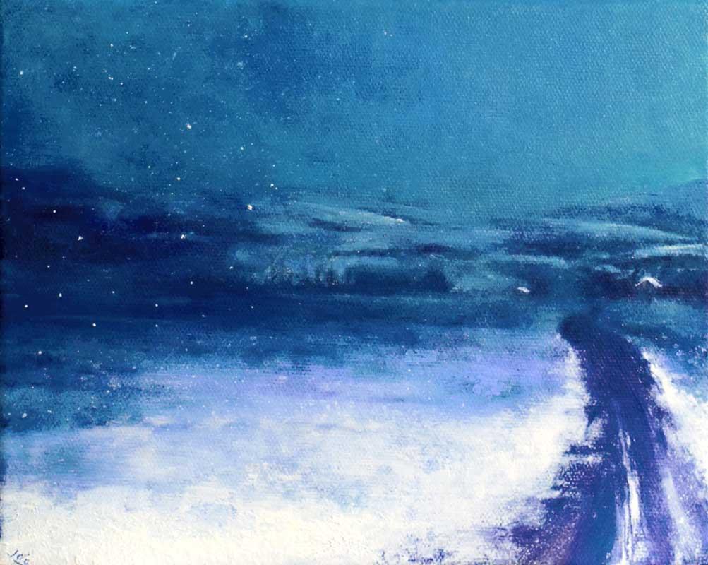 JohnOGradyArt-Flurry-on-the-Lavender-Fields